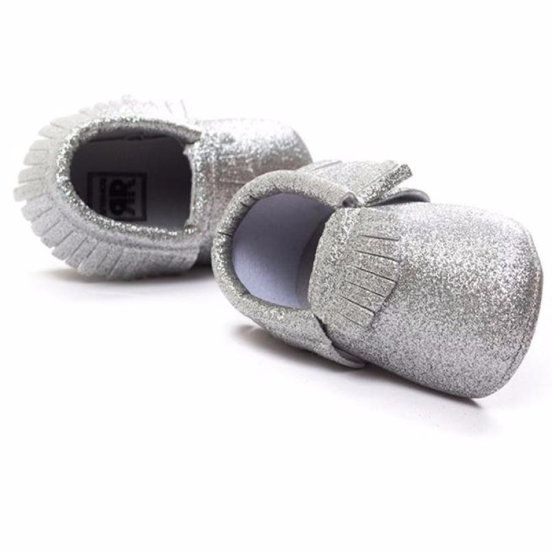 Christmas Baby Crib Tassels Sequins Shoes Sequins Toddler Soft Sole Sneakers Casual Shoes Sapatos Infantil Menina