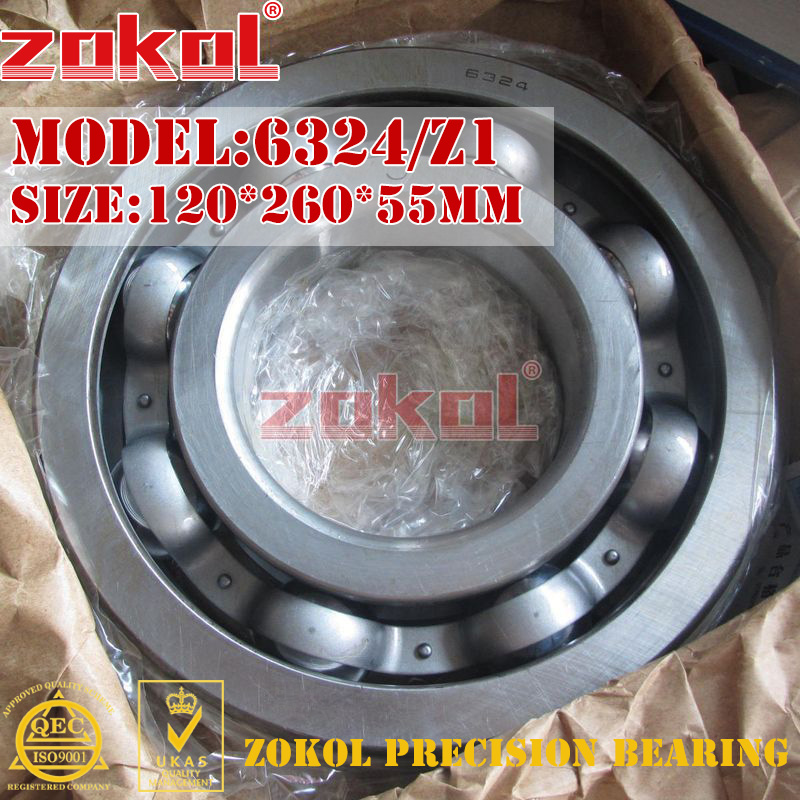 ZOKOL bearing 6324 Z1 324 Z1 Deep Groove ball bearing 120*260*55mm zokol bearing 6318 318 deep groove ball bearing 90 190 43mm