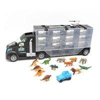 Anime Heavy Truck Toy Car Hold Truck Boys Plastic Educational Truck Toys 10pcs Dinosaur Series Small