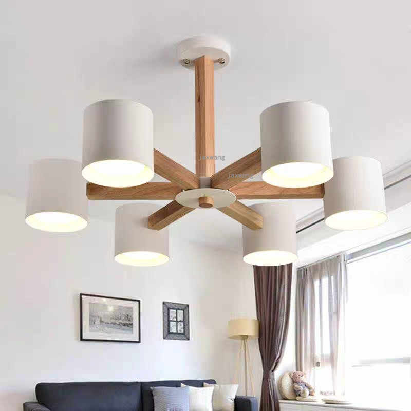Nordic Wood LED Light Ceiling Chandelier Chandeliers Lamp Living room Chandelier Lighting Modern Hanging ceiling Lamps WD93