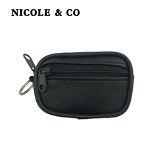 NICOLE & CO PU Leather Coin Purses Mini Women's Small Change Bag Pocket Coin Wallets Key Holder Case Pouch Zipper Purse цена