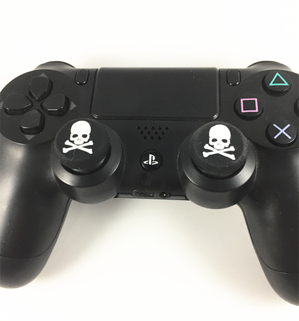 100pcs Skull Head Thumb Stick joystick Cover silicone Cap For Playstation 4 PS4 PS3 Analog Grip For Xbox one Xbox360 Controller