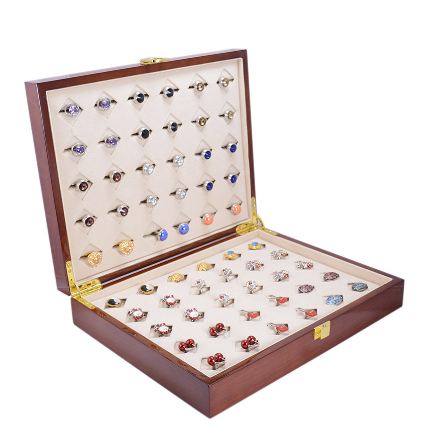 Luxury Cufflinks&Ring Gift Box 30pairs Capacity wood box High Quality Painted Wooden Box Authentic 300*240*68mm Free Shipping