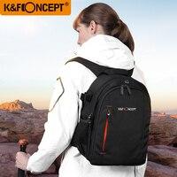 K&F CONCEPT Large Capacity Waterproof Camera Backpack Photo/Video/Laptop Bag Lens Case DSLR Bags Travel Knapsack For Canon Nikon