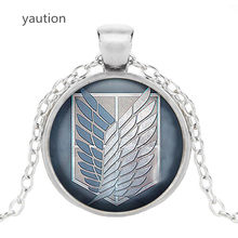 Attack on Titan Levi Ackerman Glass Cabochon Pendant Necklace Jewelry Charm necklace(China)