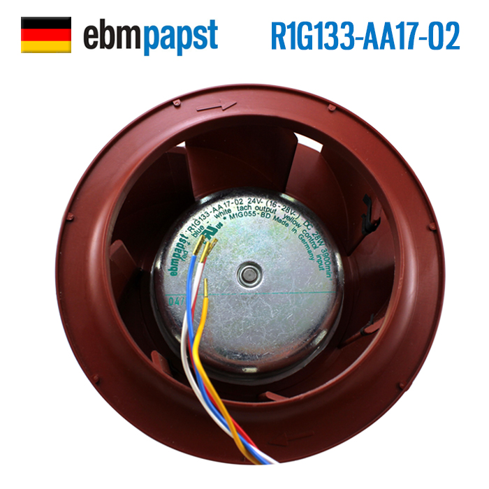 ebm papst   Brand new original inverter cooling fan R1G133-AA17-02 220V fan 133*91mm 230v 1a 50hz ebm papst r2e280 ae52 17 variable frequency fan cooling fan
