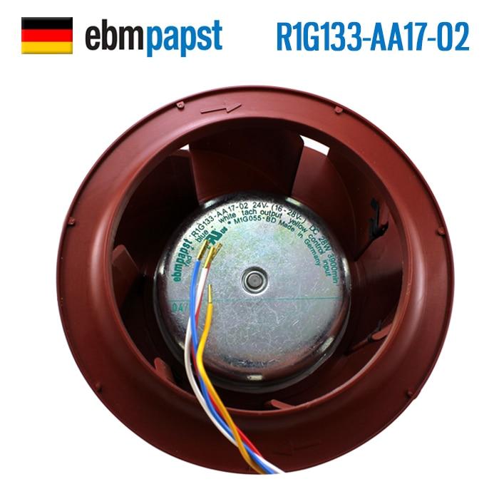 ebm papst   Brand new original inverter cooling fan R1G133-AA17-02 220V fan 133*91mm original brand new 3612kl 05w b50 9032 24v 0 32a 9cm two wire inverter fan