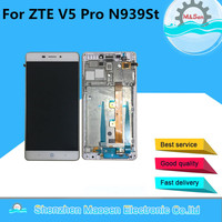 M Sen For ZTE V5 Pro N939St Lcd Screen Display Touch Digitizer With Frame White Gold