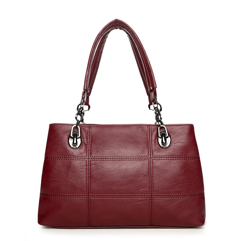 Luxury Women Chains Plaid Handbags High Quality Leather Shoulder Bag Sac a Main Designer Handbag Casual Large Capacity Tote Bag zigmund amp shtain zs 0500 черный базальт