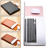 Eagwell Universal PU Leather Slim Sleeve Bag Pouch Case For 11 13 15 Inch Laptop Fashion