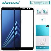 For Samsung Galaxy A8 A8 Plus 2018 Tempered Glass Nillkin 3D CP MAX Full Cover Glass