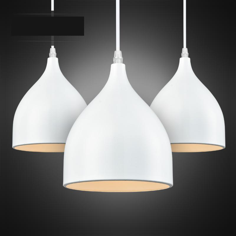 Creative Modern Fashion Black/white Aluminum Led E27 Pendant Light For Living Room Dining Room Coffee Bar Ac 80-265v 1124 цена