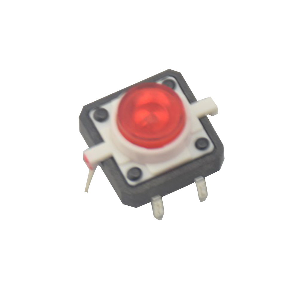 Active Components Integrated Circuits 5pcs White Led Tactile Button Push Switch Momentary Tact With Led Round Cap