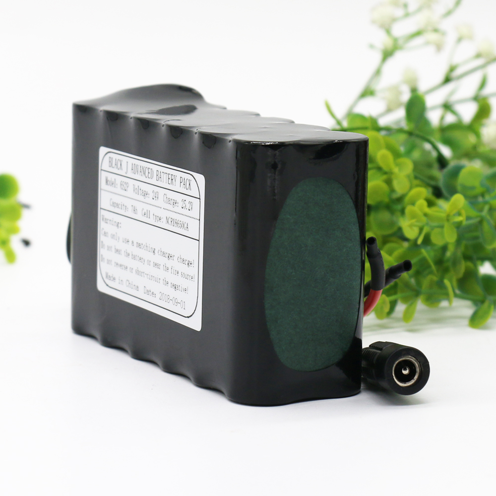 KLUOSI 24V Battrey 6S2P 25.2V 7Ah  NCR18650GA Li-Ion Battery Pack With 20A Balanced BMS For  Electric Motor Bicycle Scooter Etc