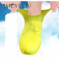 Силиконовый чехол для обуви, Нескользящие водонепроницаемые чехлы для обуви, портативные непромокаемые сапоги для женщин, непромокаемые Б...