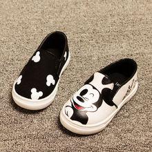 2017 весна/лето 3 цвета девочки мальчики аниме мультфильм микки hello kitty дети кроссовки дети холст обувь повседневная shoes(China (Mainland))