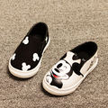 2016 Spring/Summer 2 Colors Baby Girls Boys flat shoes Anime Cartoon Mickey Children Sneakers Kids Canvas Casual Shoes