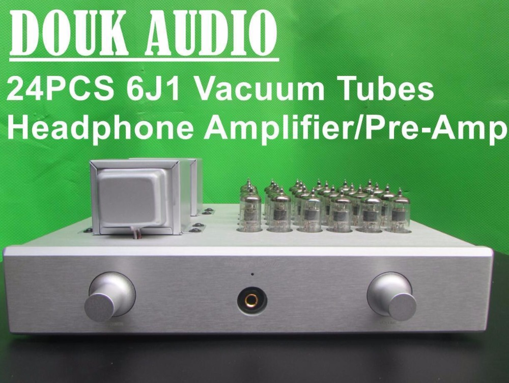 2017 New Handmade HiFi 6J1 Vacuum Tube Preamp Class A Amplifier Aluminum Case or Acrylic Cover Panel Version iwistao hifi hybrid tube headphone amplifier class a 2p2 preamp fet irf540 power stage aluminum casing