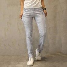 1f8100ebbc67e HCXY 2017 wysokiej jakości mężczyzna Lniane Spodnie mężczyzn Dorywczo lato cienkie  spodnie Męskie pantalones spodnie męskie