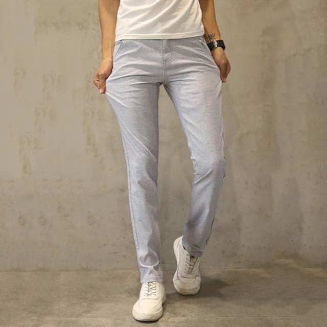 HCXY 2019 Summer style Men's Linen Pants Men Casual Pants Mens Light Thin Trousers Male pantalones Breathable Plus Size 38
