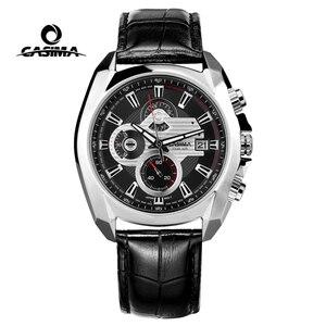 Image 1 - Reloj de lujo para Hombre, Reloj Masculino de pulsera, deportivo, militar, de cuarzo, cronógrafo luminoso