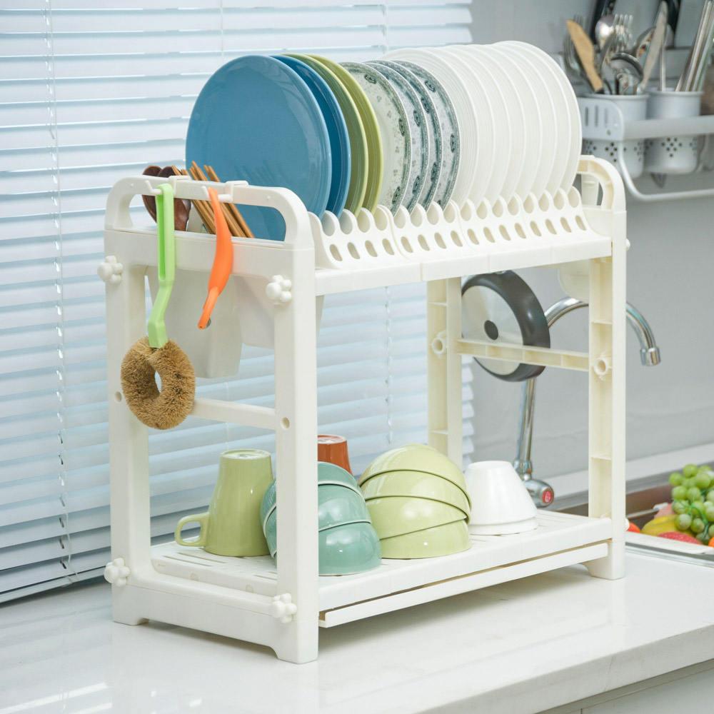 BYN Home Decor Multi Functional White Plastic Kitchen Storage Rack ...
