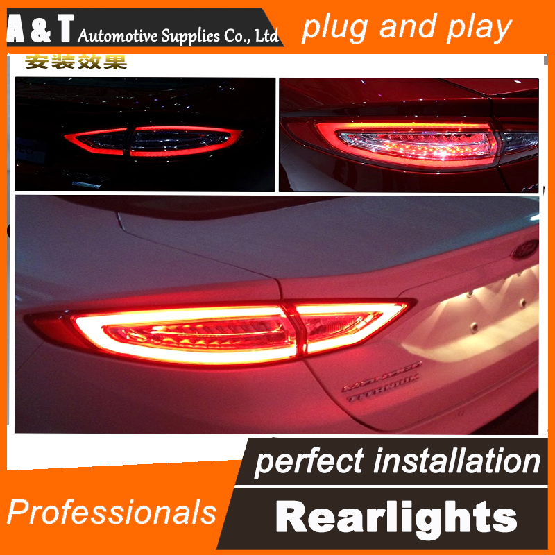 Car Styling LED Tail Lamp for Mondeo LED Taillights 2013-2015 Rear Light DRL+Turn Signal+Brake+Reverse auto Accessories car styling led tail lamp for suzuki swift taillights 2005 2014 swift rear light drl turn signal brake reverse auto accessories