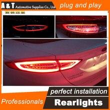 Car Styling LED Lámpara De Cola para Mondeo Luces Traseras LED Luz Trasera 2013-2015 DRL + Señal de Giro + Freno + auto Reverse Accesorios