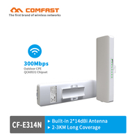 COMFAST Outdoor Weatherproof CPE/Wifi repeater/Access Point AP 2.4Ghz 300Mbps 2KM Long Range Bridge Client Router for IP camera
