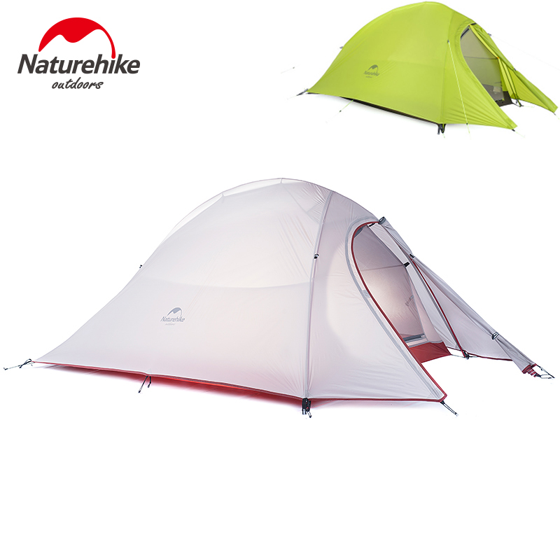 Naturehike Ultra Lightweight 2 Person Tent CAMPING GEAR Backpacking Tents With Footprint Rainfly And Free Storage Bag Included footprint reading library 3000 alternative energy [book with multi rom x1 ]