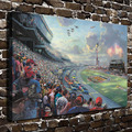 H1183 Thomas Kinkade NASCAR THUNDER, HD Canvas Print Home decoration Living Room bedroom Wall pictures Art  painting