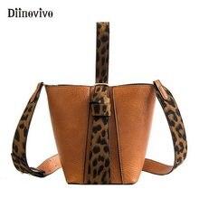 77470441b DIINOVIVO Moda Leopard Bolsa Bolsas De Grife para Mulheres conjuntos Feminino  Casual Bolsas Totes Bolsa de Ombro Balde Saco 2 WH.