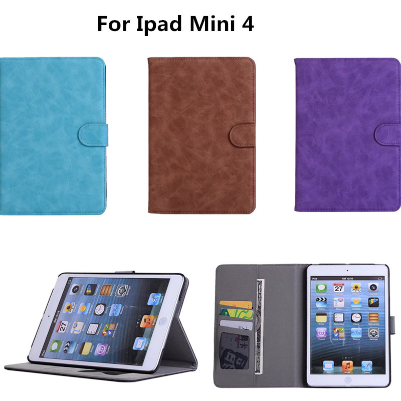 Business Tablet Cover For Apple ipad mini 4 Case Luxury PU Leather ...