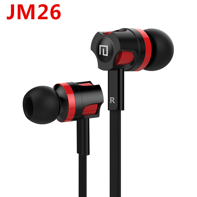 Original JM26 3.5mm In ear Stereo Earphone Earbuds Headsets with mic earphones for iPhone 6 6s xiaomi Mobile Phone PC original xiaomi hybrid earphone units with mic remote in ear hifi earphones with mic circle iron mixed for xiaomi redmi mobile