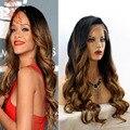 1b/4/30 Ombre Llena Del Cordón Del Pelo Humano Pelucas Rihanna Ombre Color Del Cordón Pelucas delanteras Brasileña Onda Del Cuerpo Del Pelo Humano Pelucas Para Las Mujeres Negras