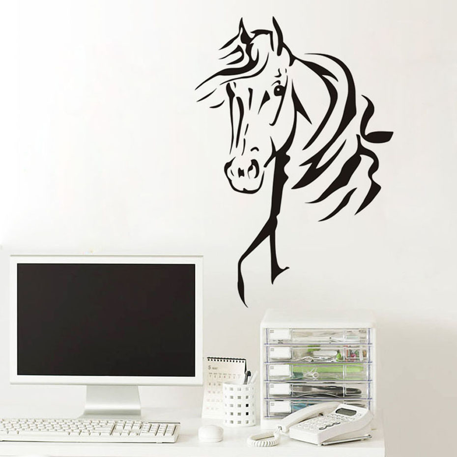 Beautiful Horse Wall Stickers Art Vinyl Decal Self Adhesive Wallpaper Stylish Home Graphics Decor For Kids Room B