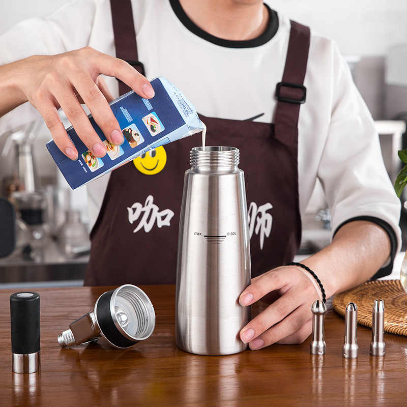500 ml creme liquidificador foamer creme bico doméstico dispensador de creme de soda