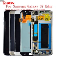 5.5'' Super AMOLED LCDs Replacement For Samsung Galaxy S7 edge LCD WITH FRAME G935 G935F LCD Display Screen Digitizer Assembly