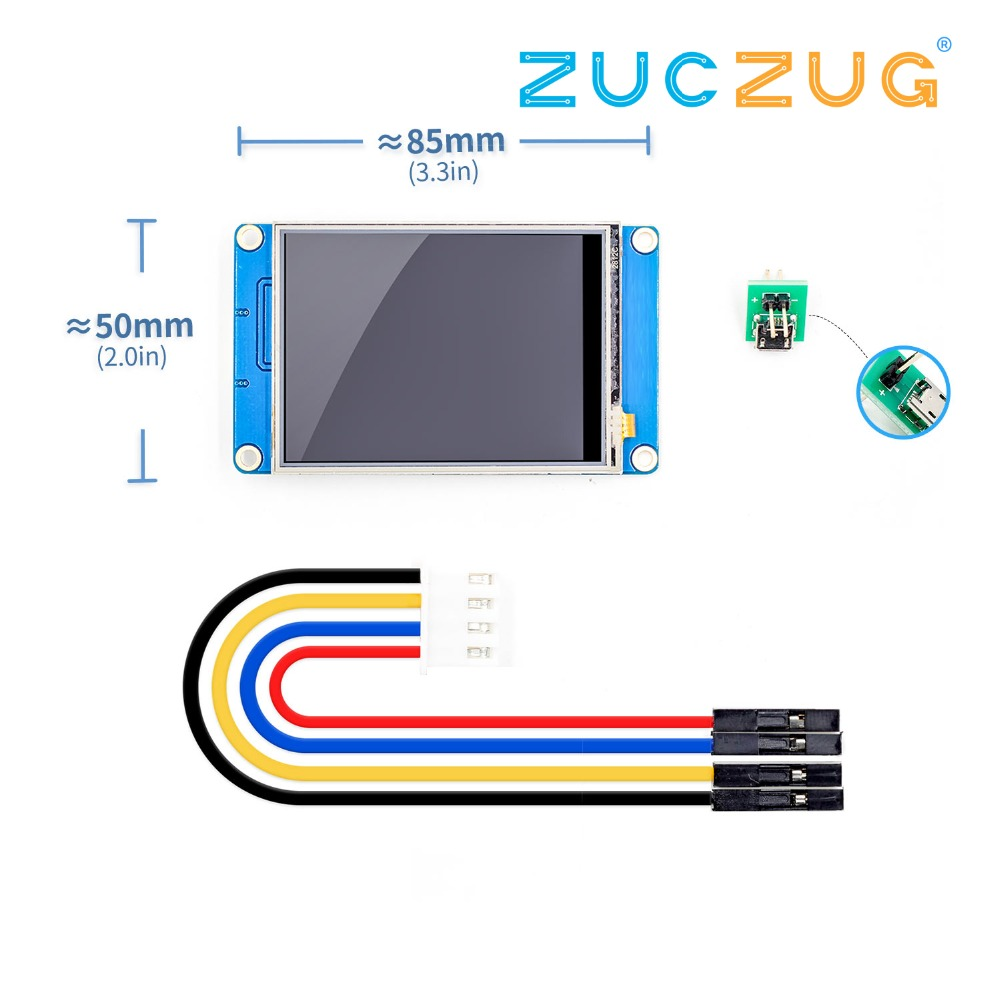 2.8 Nextion Enhanced HMI Intelligent Smart USART UART Serial Touch TFT LCD Module Display Panel for Arduino Kits Raspberry Pi2.8 Nextion Enhanced HMI Intelligent Smart USART UART Serial Touch TFT LCD Module Display Panel for Arduino Kits Raspberry Pi