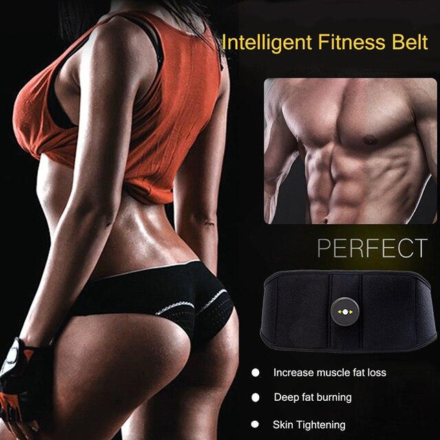 Vibration Sweat Belt Abdominal Muscle Toner EMS Electronic Stimulator Fitness Massager Waist Trimmer Support Slimming Body Home 5
