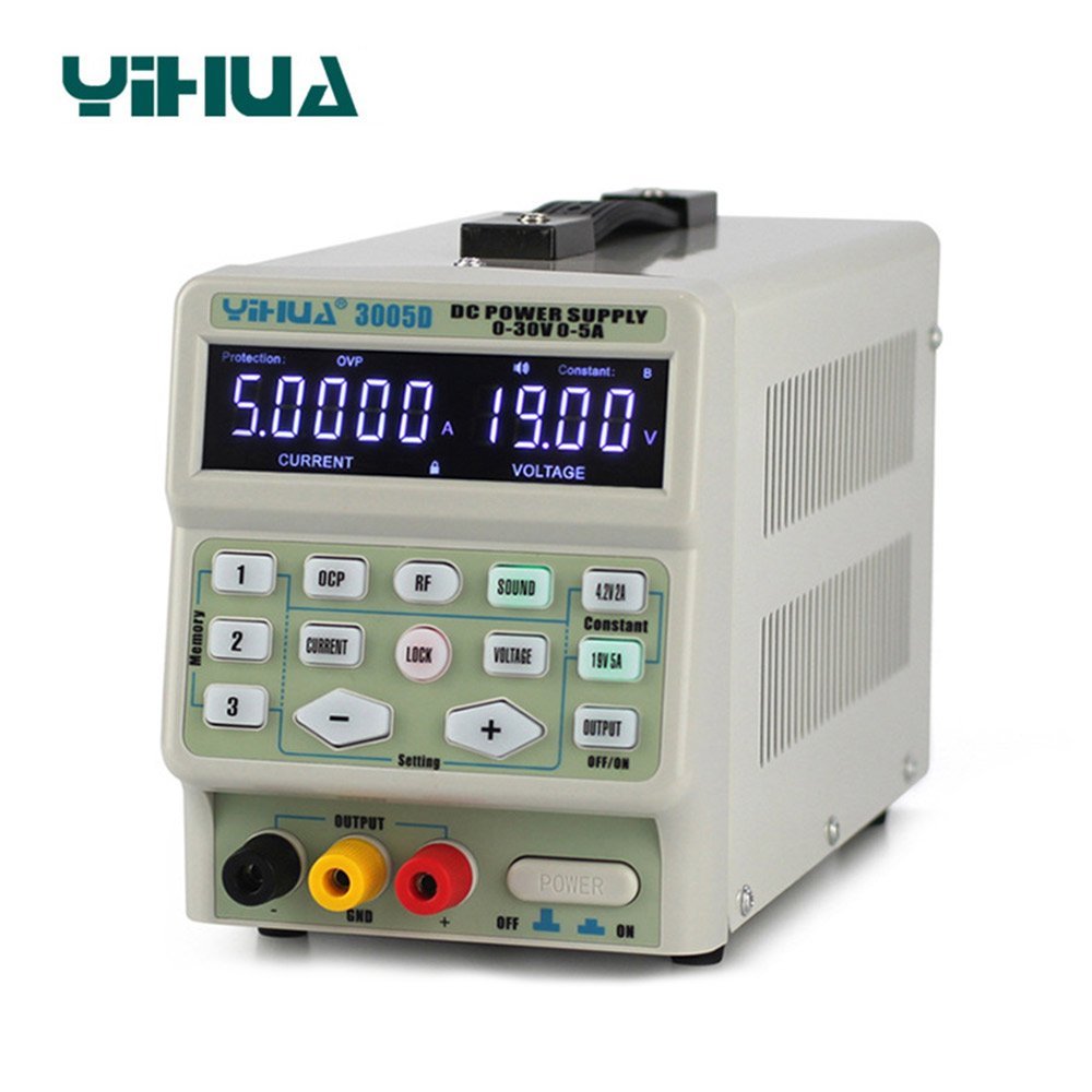 YIHUA 3005D DC Power Supply Digital program control 30V 5A Precise adjustment mobile phone signal test function DC Power Supply-in Voltage Regulators/Stabilizers from Home Improvement