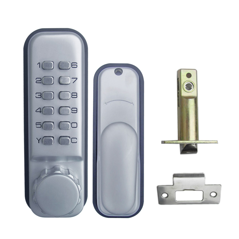 Mechanical Code Door Lock Digital Machinery Keypad Password Entry lock Stainless Steel Latch Zinc Alloy Silver 1718 gardena 08317 29 000 00