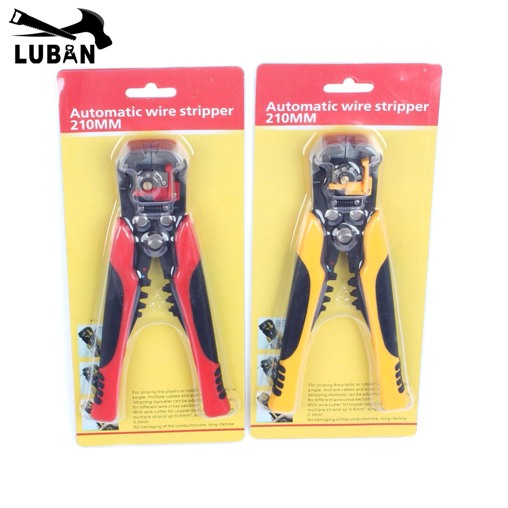 Multifunctional Automatic Cable Wire Stripper Plier Self Adjusting Crimper Terminal Tool HS-D1 Wires Cutter Multitool Yellow