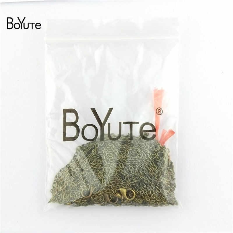 BoYuTe 10 חתיכות 2*3 MM לולאה 65-70-90CM אורך עתיק ברונזה שרשרת עבור תכשיטי עבודת יד תכשיטי ממצאי עבור שרשרת ביצוע