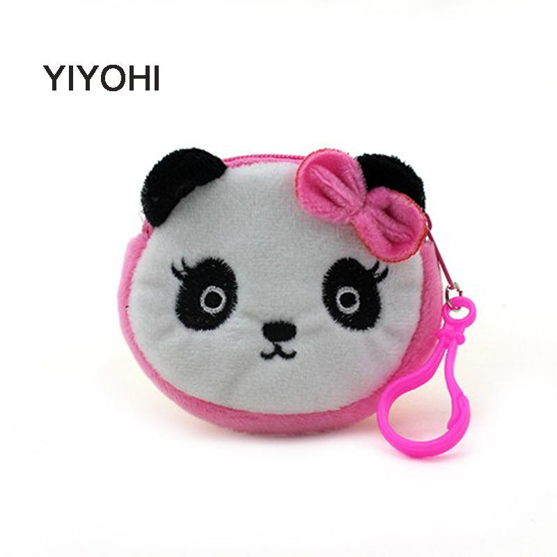 YIYOHI New Mini Coin Bag Accessories Coin Purses Wallet Ladies Fashion Cute Small Zipper Bag Panda/Rubbit/ Emoji Smile 2017 new coin purses wallet ladies 3d printing cats dogs animal big face change fashion cute small zipper bag for women pouch