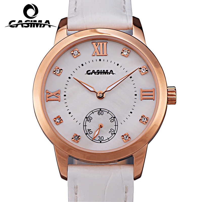 New Brand CASIMA Casual Women Watches montre femme Leather Strap Quartz Watch Ladies Watch Dress Watch relojes mujer цена