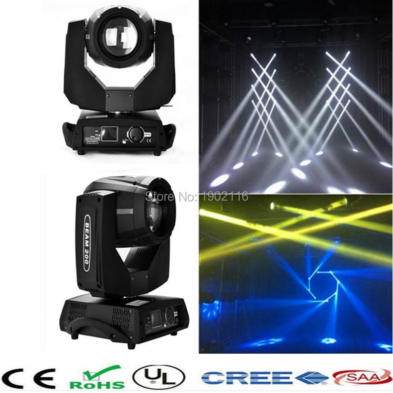 2pcs 200W Touch screen Beam Moving Head light LED 200W 5R DMX Stage effect light dj disco lighting wedding lights LED laser