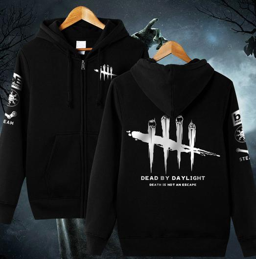 Men Women Game Dead by Daylight Hoodie Zipper Cosplay Jacket Fleece Coat Casual Cardigan ...