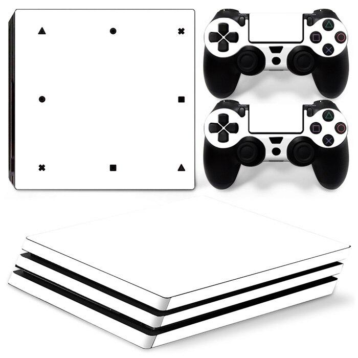 Videospiele Pure White Schutz Vinyl Haut Aufkleber Für Ps4 Pro