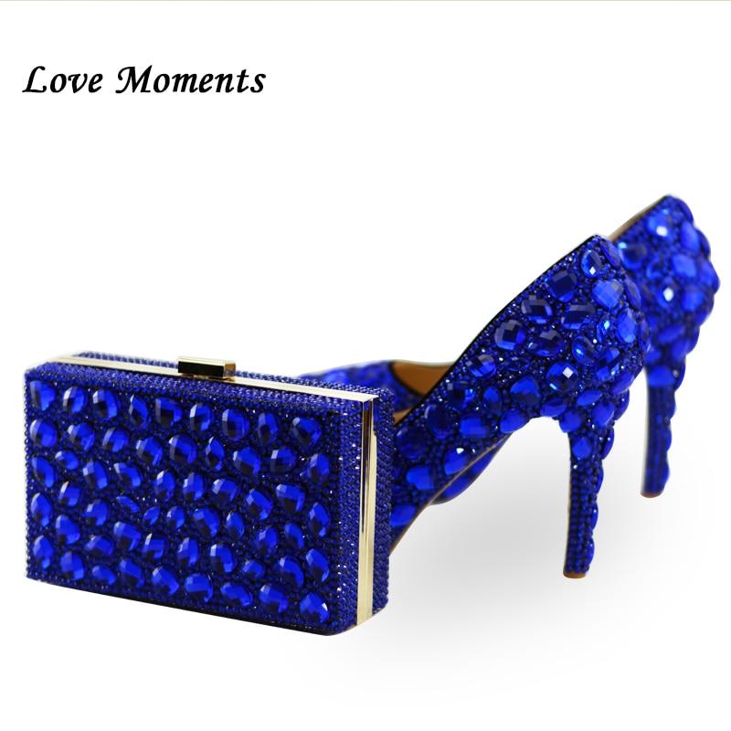 Royal Sacs Bag Et Femme And Moments Femmes De Shoe D'amour Bag Mode Haute Mariage Assortir Bag 11cm Cristal Bleu Pompes Sac Ensemble À 14cm New Chaussures 8cm zwxfxSq8E